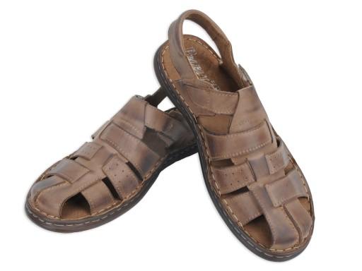 Męskie sandały skÓrzane PO2 - skÓra 100% nr 40 7488824270 Obuwie Męskie Męskie AT NRKIAT-4
