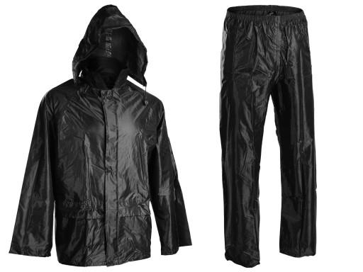 KOMPLET PRZECIWDESZCZOWY Kurtka+Spodnie Czarny XL