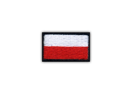 Polska Naszywka - Flaga Polski ( 1,5 x 2,5 cm) CR