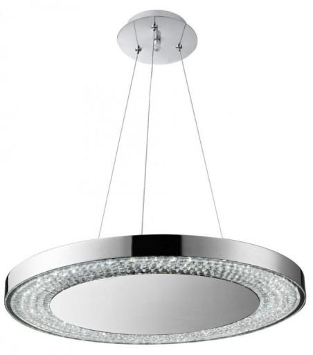 Nowoczesna Lampa Wisząca Led 40w Salonu Chrom New 6802755398