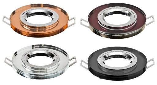 Oprawka LED halogen ANYA kryształ szklana + GU10