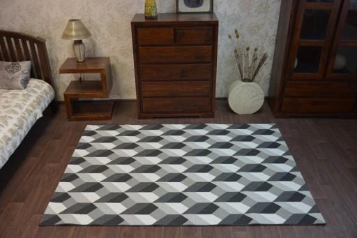 Dywany łuszczów Sznurkowy 200x290 Kostka 3d B355