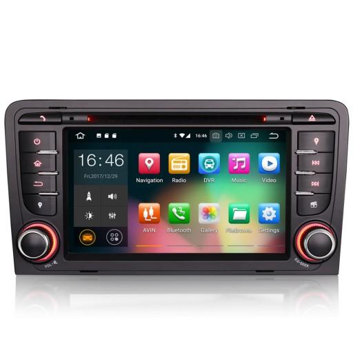 Radio DAB+ Android GPS DVD CD USB SD AUDI A3 8P