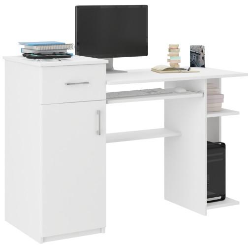 Biurko Komputerowe 120cm Stolik Laptop Białe N 8