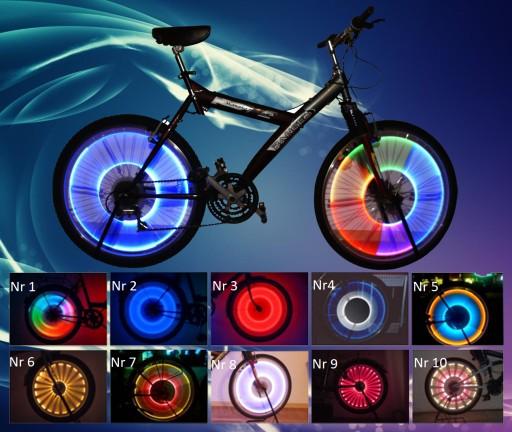 Oświetlenie Rower Koła Szprychy Lampka Led
