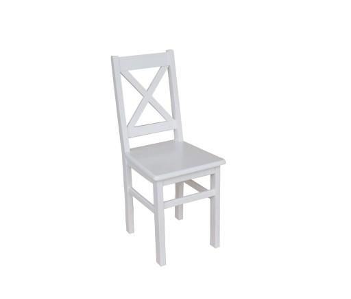 Krzesło Kuchenne Drewniane Sosnowe Solidne Białe X