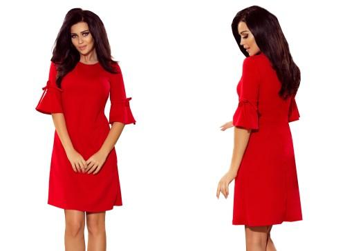 b22a2e1e5b LUŹNA CZERWONA Sukienka NA SYLWESTRA 217-1 XL 42 7667756022 - Allegro.pl
