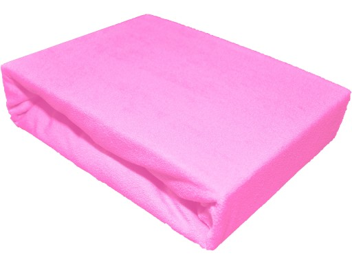 Prześcieradło 80x180 frotte z gumką różowe