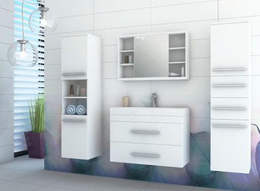 szafka łazienkowa pod umywalkę biała szuflady 7dni