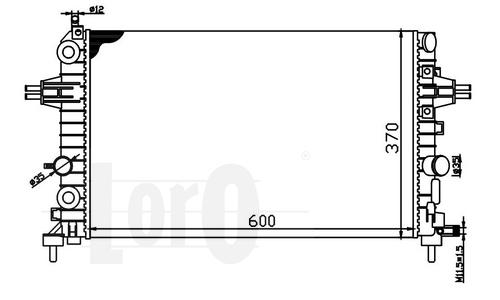 CHŁODNICA WODY OPEL ASTRA H 2003-2014 1.4 1.6 1.8