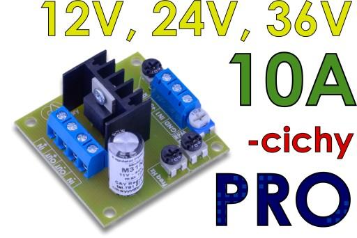 12-36V 10A Regulator obrotów silnika DC PWM cichy