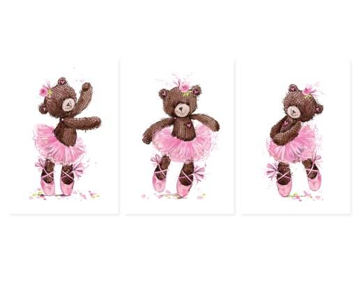 Plakaty Obrazki Dla Dzieci Misia Baletnica 3xa3