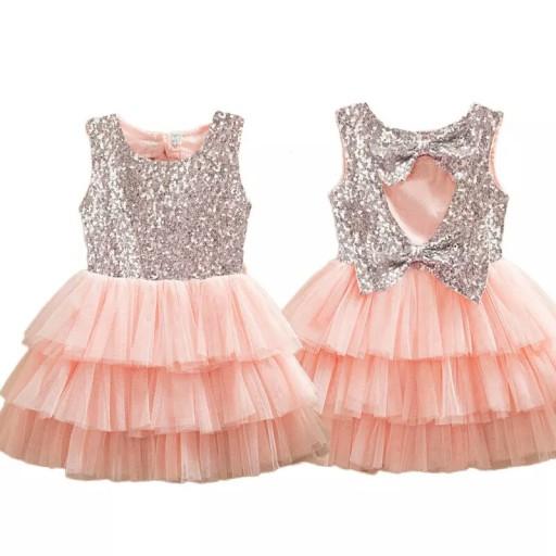 9d8bb992a7 Sukienka Tiulowa TuTu Wesele Urodziny 92-98 7233428918 - Allegro.pl