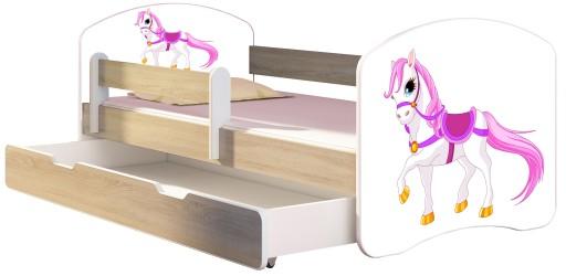 Łóżko dziecięce 160x80 szuflada materac DĄB SONOMA