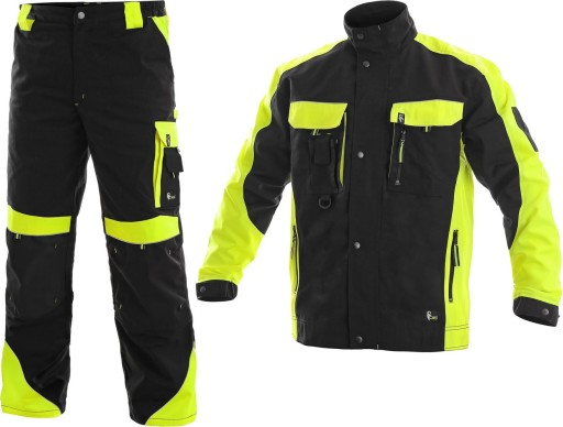 a6ca973f77 Ubranie robocze ODBLASKOWE SIRIUS bluza spodnie 54 7432627669 ...