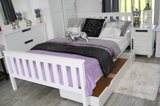 łóżko Drewniane Iza 120x200 Białematerac Sprężyno