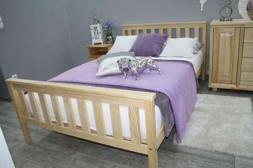 łóżko Drewniane Sosnowe Iza 160x200 Stelaż Produ