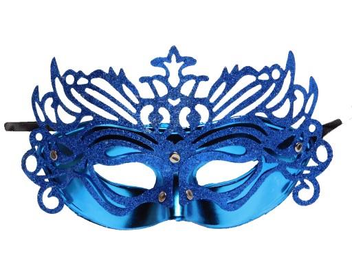 Maska Wenecka Niebieska Karnawal Sesja Bal 405 8869884835 Allegro Pl