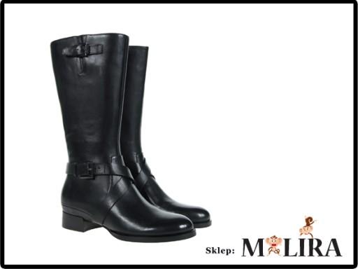 08501723138c1 ECCO SULLIVAN czarne kozaki skórzane r.37 7004430319 - Allegro.pl