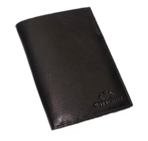 a8abcbbc4a527 Wittchen portfel męski na paszport czarny 14-1-608 6376690582 ...