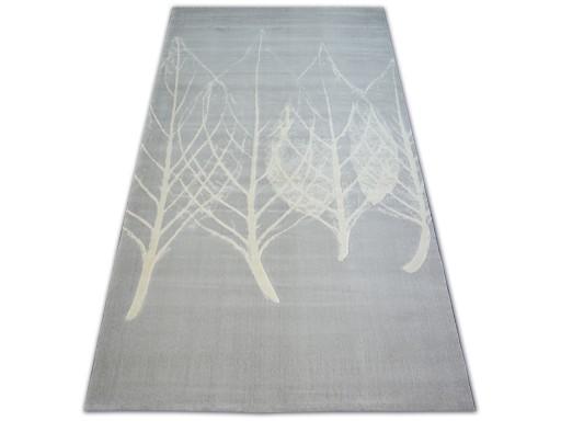 Dywany łuszczów Scandi 160x230 Liście Szary B716