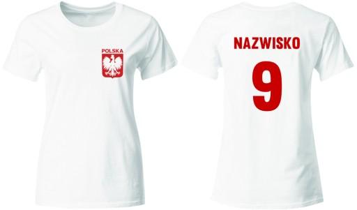88adeef6b KOSZULKA REPREZENTACJI POLSKI Z WŁASNYM NADRUKIEM (6208913237 ...