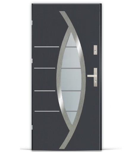 Polskie Drzwi Zewnetrzne Metalowe Hammer Inox 7120383228 Allegro Pl