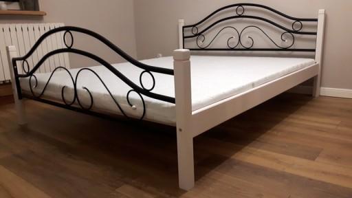 Nowość łóżko Metalowe 180x200 Białe I Czarne