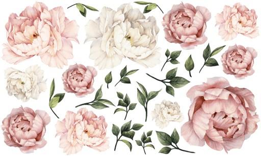 Peonie Kwiaty Piwonie Naklejki Na Sciane 100x60 Xl 7662000025