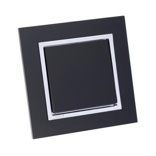 Wyłącznik pojedynczy MAGIC chrom - czarny MAT