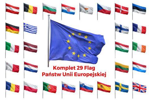 Komplet flag Unii Europejskiej 120x75cm Flagi EU 7025691422 - Allegro.pl