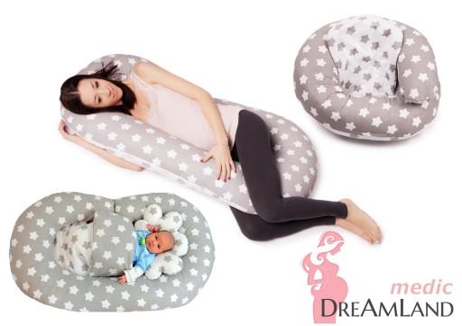 MEGA ZESTAW Poduszka ciążowa 4w1 + antywstrząsowa