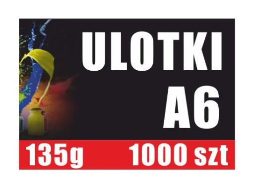 A6 1000 Szt 135 G Ulotki Kolorowe Ulotka Plakaty