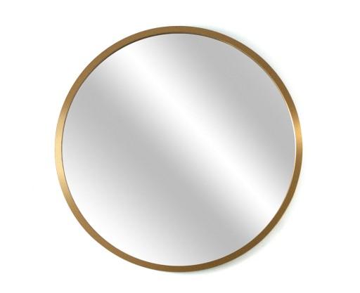 Wybitny Okrągłe lustro łazienkowe, złote, w ramce 70 cm 7116932035 WE26