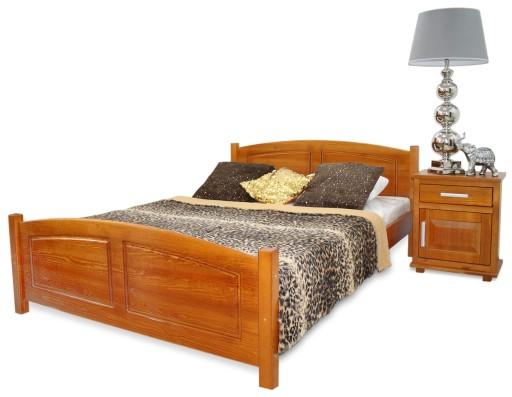 łóżko Drewniane Zyta 140x200 4 Kolory Stelaż