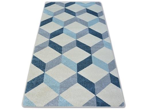 Dywany łuszczów Nordic 280x370 Kostka 3d A003