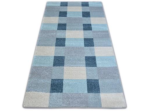 Dywany łuszczów Nordic 160x220 Kratka Szary A128