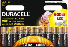 ORYGINALNE BATERIE ALKALICZNE DURACELL R6/AA x12