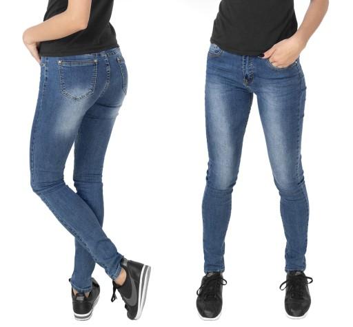 8c7513cbd6f038 Damskie Spodnie Rurki Jeans ze Streczem 3790 80 cm 7473744547 ...