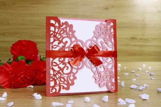 Ażurowe Zaproszenia Zawiadomienia Na ślub Wesele 7528993152