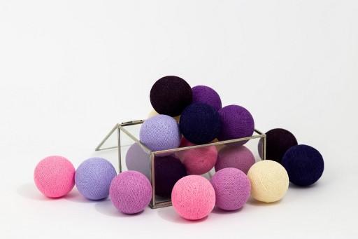 Swiecace Kule Bawelniane Lampki Cotton Balls 20kul 5849483079 Allegro Pl