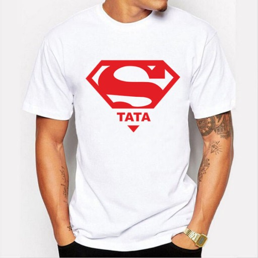 Koszulka Super Tata Imieniny Dzien Ojca 4xl 7353214062 Allegro Pl