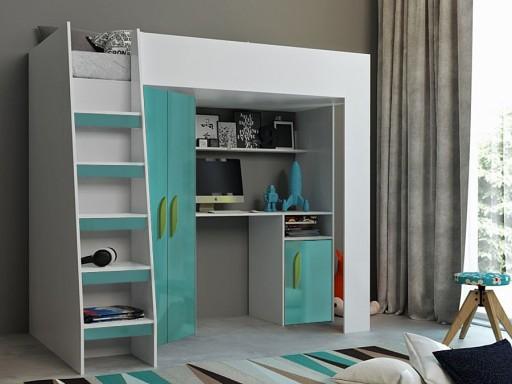 łóżko Piętrowe Antresola Tablet 2 Szafa Biurko 7570141114 Allegropl