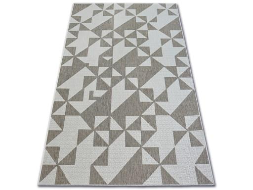 Dywany łuszczów Sznurkowy 140x200 Trójkąty Dev756