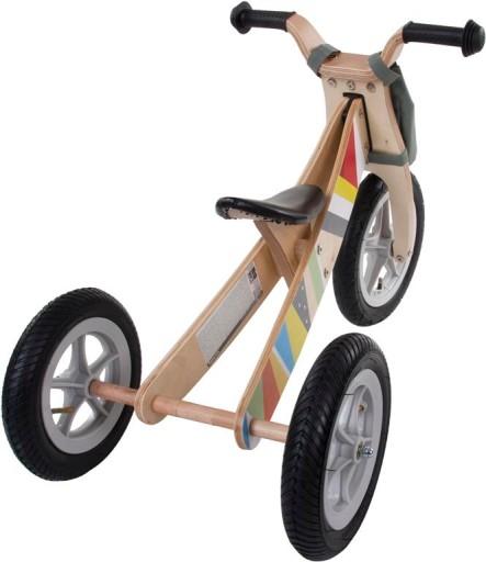 Rowerek biegowy drewniany 2w1 Twist SUN BABY HIT
