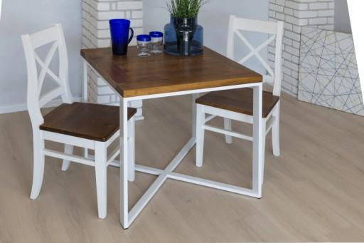 Stol Industrialny Drewniany Loft Salon Jadalnia 80