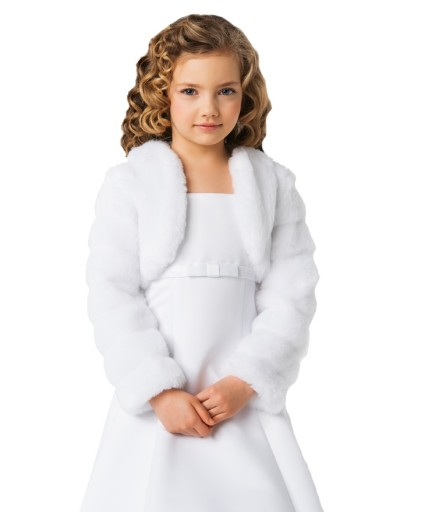 974003aa52 Bolerko komunijne sweterek futerko komunia 146 7171783325 - Allegro.pl