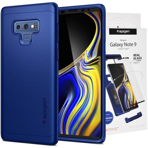 new style 01481 e6e95 Spigen Thin Fit 360 | Etui + szkło | Galaxy Note 9