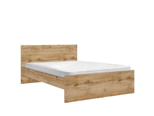 łóżko Dwuosobowe Zele 140x200 Black Red White
