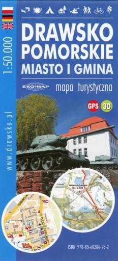 MAPA TURYSTYCZNA DRAWSKO POMORSKIE 1-50000